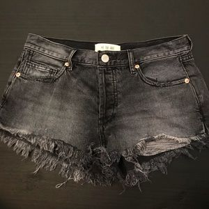 Free People black and grey shorts